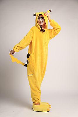 Adult Size Pajamas Pokemon Pikachu Kigurumi Costume for Cosplay Halloween - Pikachu Costumes For Adults