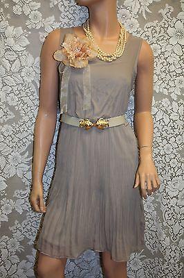 Great Gatsby Women Fashion (Great Gatsby Style Women's Elegant Chiffon Dress, Color Mocca, Size:)
