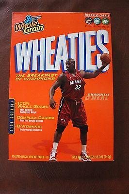 Shaq O'Neal Wheaties Cereal Box Shaquille O'Neal Miam Heat FULL - Miam Heat