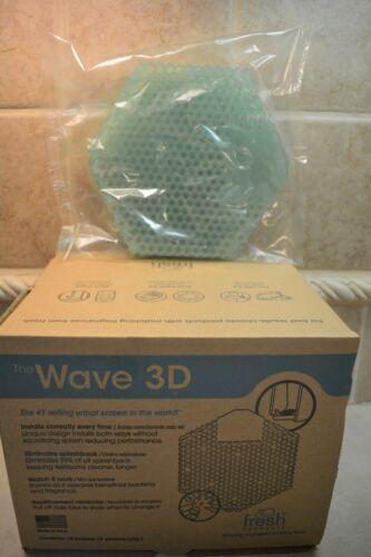 Wave 3D Urinal Deodorizer Screen Green Cucumber Melon Fragrance