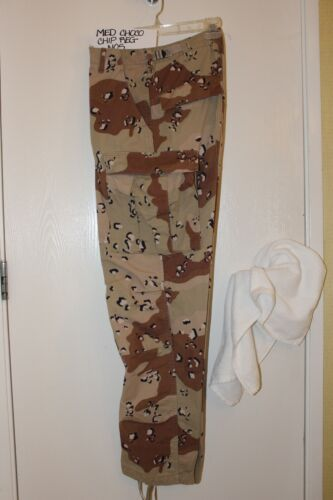 US Army Military Pants Combat Chocolate Chip Desert Camouflage Camo MEDIUM NOS