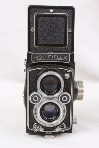 Rolleiflex 3.5B 6x6 120 TLR Film Camera w/Zeiss Tessar 75mm f3.5 Lens - READ