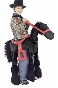 Ride-on black horse Halloween costume for kids