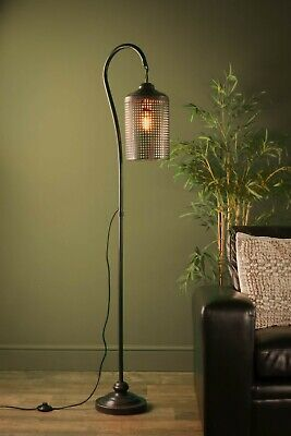 Retro Industrial Lattice Floor Lamp Vintage Style Iron Light Antique Iron Home