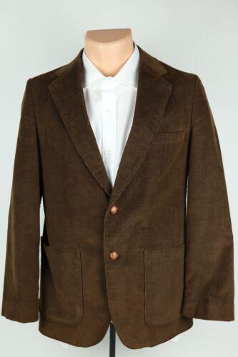 Vintage Sears Dress Clothing Boys 18 / XL Reg Brown Corduroy Sport Coat Blazer