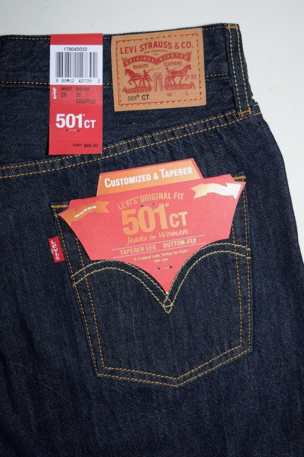 Levi's 501 CT Women's Customized & Tapered Jeans