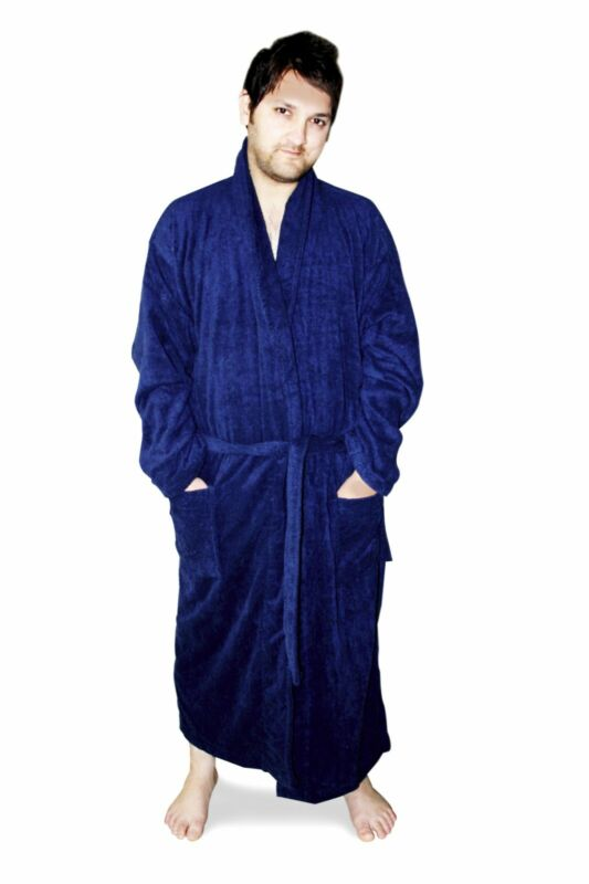 mens terry bathrobe ebay. Black Bedroom Furniture Sets. Home Design Ideas