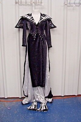 Music Notes Sequin Bodice Long Sleeve Dress Costume Theater Halloween*SHIPS FREE](Musical Theater Halloween Costumes)