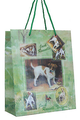 Jack Russell Terrier Dog Quality Large Gift Bag & Gift Tag Present Occasion