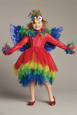 EUC CHASING FIREFLIES GIRLS SIZE 6 PARROT BIRD COSTUME WINGS, & HEADPIECE
