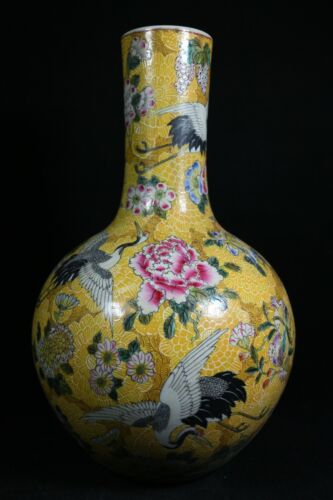 Beautiful chinese famille rose porcelain vase