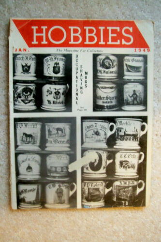 """January 1949 """"Hobbies"""" Magazine - Dolls, Firearms, Indian Relics, Coins & More"""