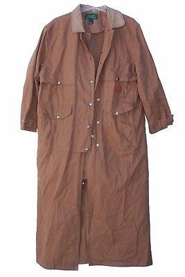 "Mens Ralph Lauren Outdoor Clothing 53"" long Canvas Duster Western Coat Sz M"