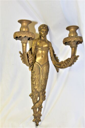 Empire style Lady sconce Bronze and Dore