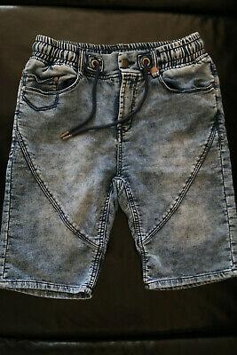 SUBLEVEL Sweat Denim-Optik Bermuda Shorts m. Kordel Jeans blau Jungen Vintage 31 ()