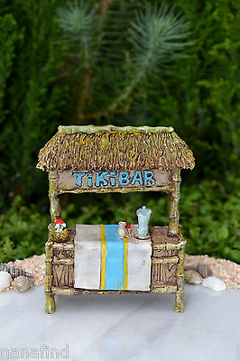 Miniature Dollhouse FAIRY GARDEN ~ Sea BEACH Island Small TIKI Bar