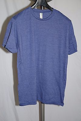 Anvil Sustainable Blue Organic Cotton/Recycled Polyester Men's T Shirt Size L