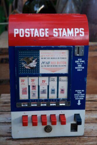 Rare Vintage Hilsum Sales Corp U.S. Postage 5 Slot Deluxe Stamp Vending Machine