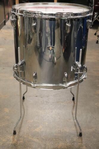 Slingerland 16x18 Floor Tom Drum Chrome over Maple Vintage 1970