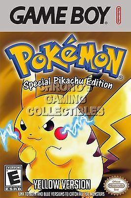 RGC Huge Poster - Pokemon Yellow Version BOX ART Nintendo Game Boy GBO - GBO048