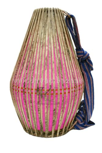 New Pink Professional Mridangam/ khol made of Clay with free cloth cover