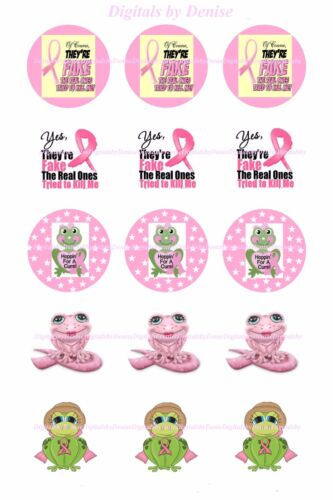 """BREAST CANCER (NEW)1 """" CIRCLES  BOTTLE CAP IMAGES. $2.45-$5.50 **FREE SHIPPING**"""