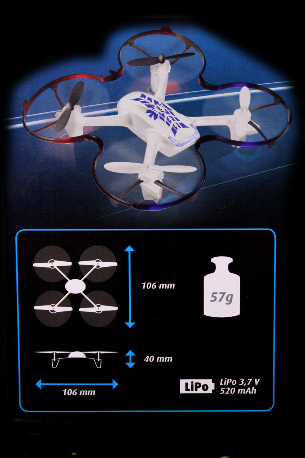 REVELL 23921 Pure RC Quadrocopter 2.4 GHz Höhenkontrolle LICHT Helikopter Heli
