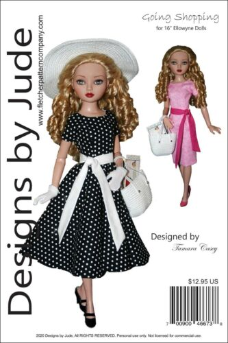 """Going Shopping Doll Clothes Sewing Pattern for 16"""" Ellowyne Wilde Tonner"""