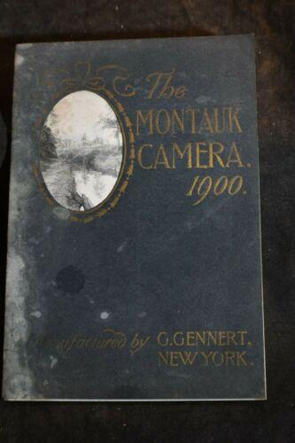 1900 The Montauk Camera Catalog- Made by G Gennert, NY