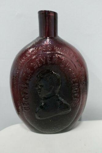 Repro Gen. Taylor Never Surrenders Amethyst Bottle - Dyottville Philadelphia