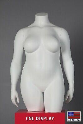 Extra Large Plus Size Fiberglass Female Headless 34 Length Mannequin