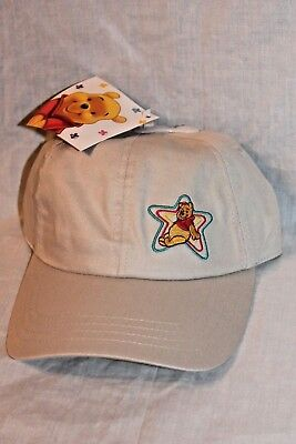 NEW  WITH TAG  WINNIE THE POOH  AND FREINDS KIDS BEIGE STAR CAP