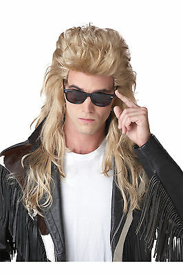 80's Rock Mullet Heavy Metal Adult Costume Wig - Blonde - Rock Mullet