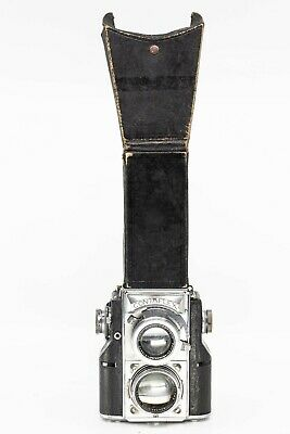 Rare Leather light hood Zeiss Ikon Contax Contaflex 35mm TLR Camera lighthood
