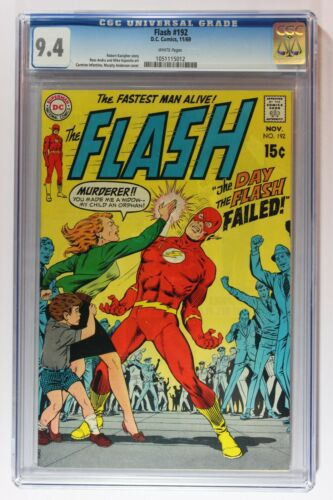 Flash 192 CGC 9.4 NM (1959 1st Series DC) White Pages