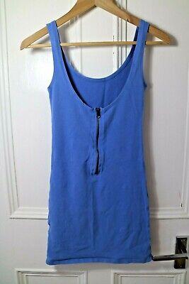 ♡  Superdry Blue Dress Elastic Size Xs Zipper  ♡