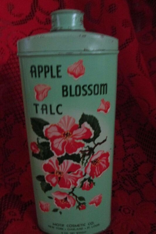 Collectible VINTAGE APPLE BLOSSOM TALC TIN,  powder
