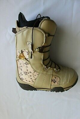 Burton Women's Emerald Snowboard Boots In Tan And Brown Floral Size 5.5