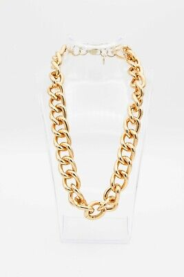 H&M Gold Chain Link Chunky Statement Necklace