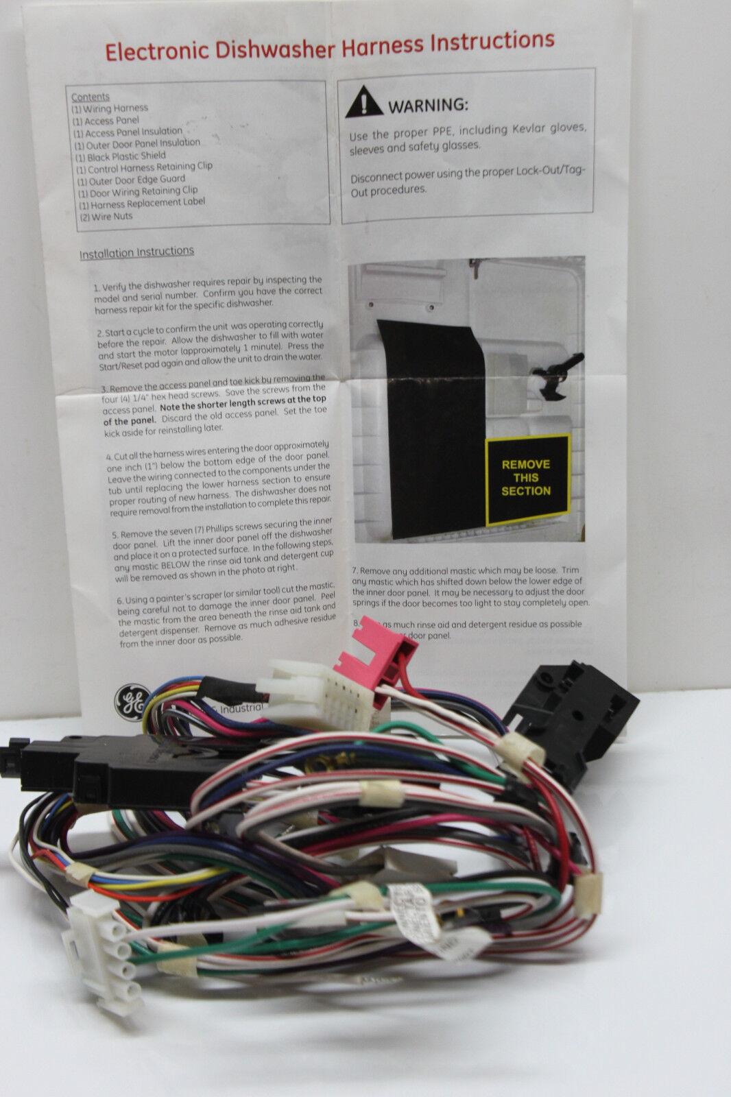 DISHWASHER PARTS / GE ELECTRICAL WIRING HARNESS for MODEL #