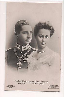 Vintage Postcard Prince August Wilhelm & Princess Alexandra of Prussia