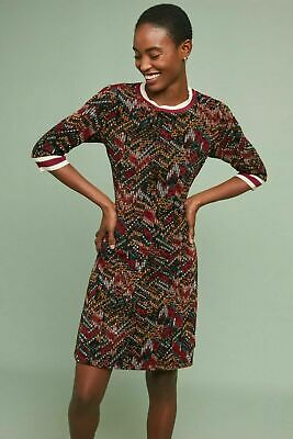 ANTHROPOLOGIE Sz S Geometric Velvet Dress Aldomartins NWT GEORGEOUS!!