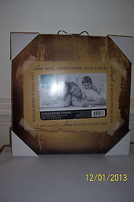 Photo Frame Sign LIVE WELL LAUGH OFTEN LOVE ALWAYS - NEW (Live Photo Frame)