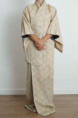 Authentic traditional vintage Japanese Kinsha silk kimono