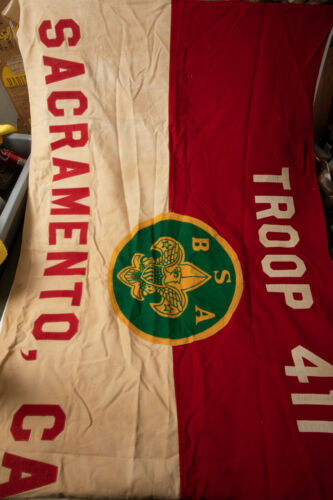 Boy Scouts Original Flag (B2R)Sacramento Troop 411 BSA 5