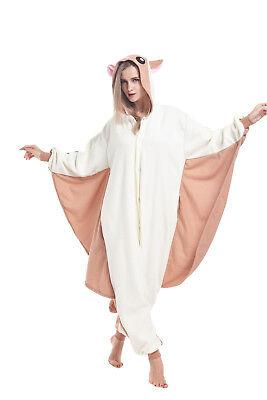 Women Men Adult Pajamas Flying Squirrel Onesie0 Kigurumi Animal Cosplay Costumes (Flying Squirrel Costume)