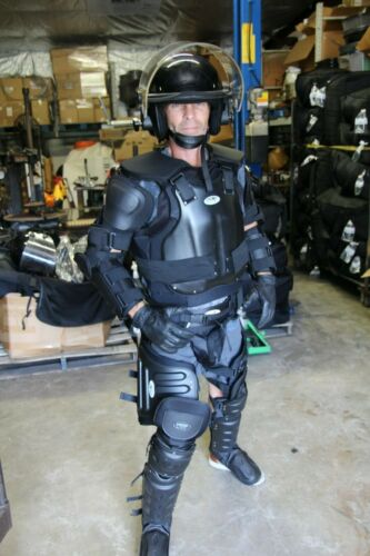 VTOP V-TOP ABA Complete Hard-Shell Riot Suit Gear ( Size MEDIUM ) w/ Bag USA
