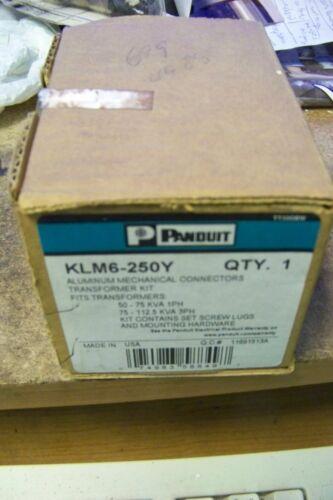 panduit KLM6-250Y Transformer lug kit, aluminum, #6 AWG - 250 kcmil conductors.