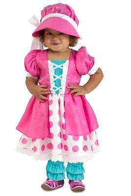 Premium Polka Dot Pink Little Bo Peep Infant Baby Child Toddler Costume NEW