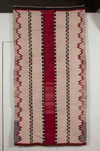 "Navajo Rug, Native American, Textile, Weaving - 62"" x 32"""